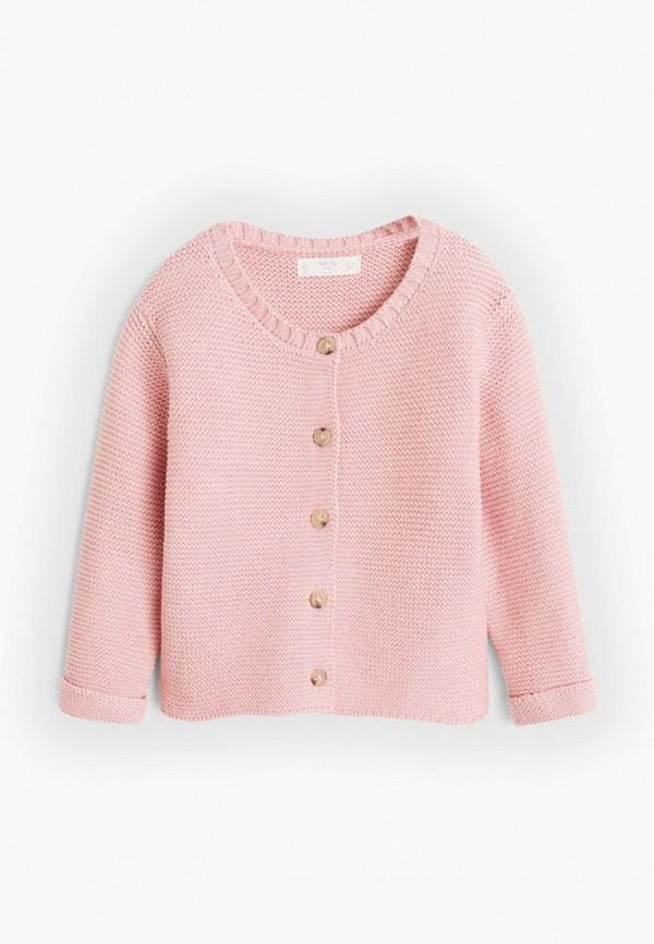 кардиган mango kids для девочки, розовый