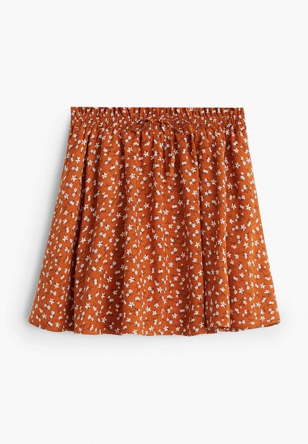 юбка mango kids для девочки, оранжевая