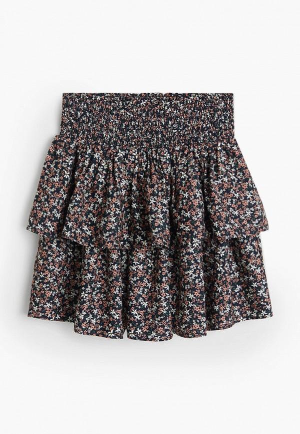 юбка mango kids для девочки, разноцветная