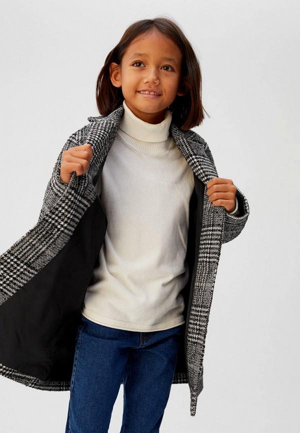 Фото 3 - Пальто Mango Kids серого цвета