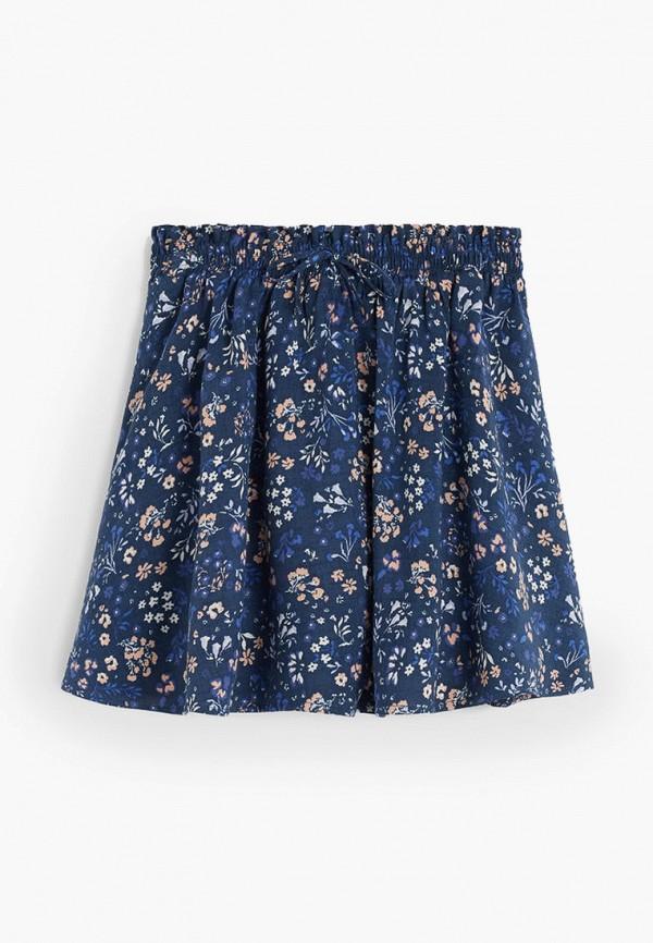 юбка mango kids для девочки, синяя