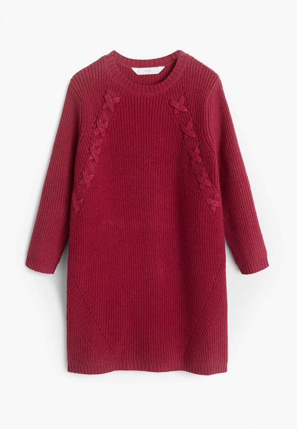 Фото - Платье Mango Kids бордового цвета