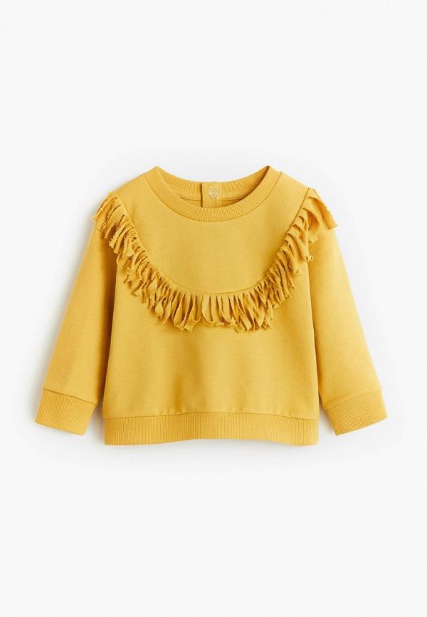 свитшот mango kids для девочки, желтый