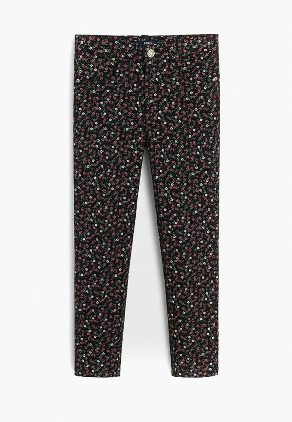 брюки mango kids для девочки, разноцветные