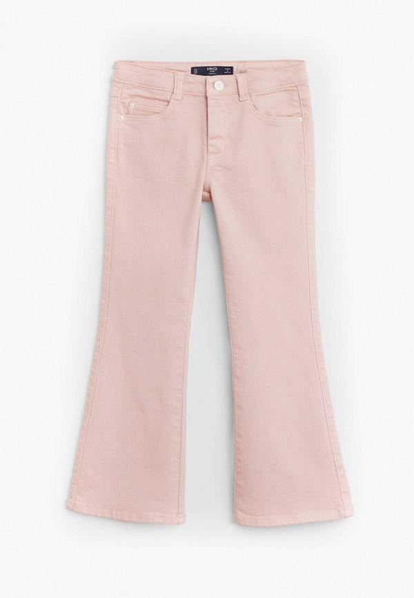 джинсы mango kids для девочки, розовые