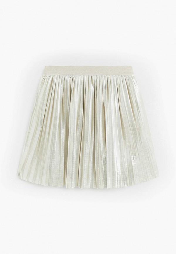 юбка mango kids для девочки, серебряная
