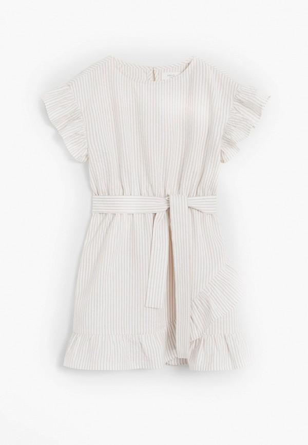 повседневные платье mango kids для девочки, белое
