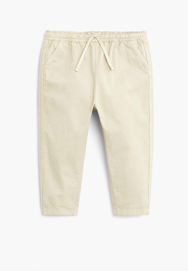 брюки mango kids для девочки, бежевые