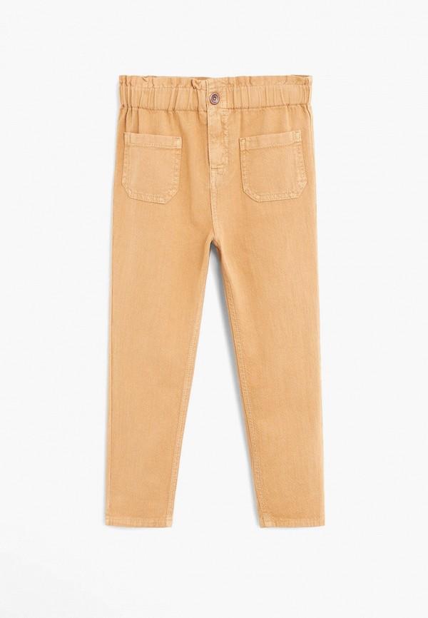 брюки mango kids для девочки, коричневые