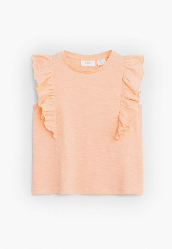 футболка с коротким рукавом mango kids для девочки