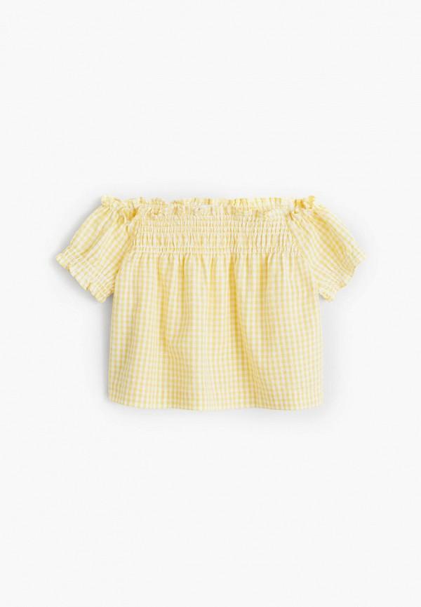 Блуза Mango Kids Mango Kids 67092879 желтый фото