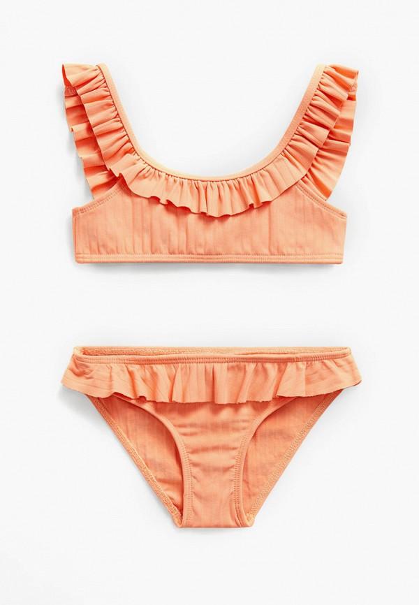 купальник mango kids для девочки, оранжевый