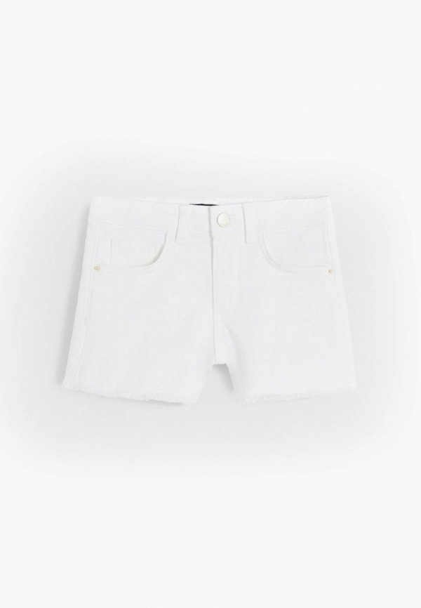 джинсовые шорты mango kids для девочки, белые
