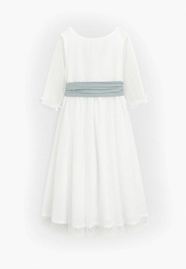 нарядные платье mango kids для девочки, белое