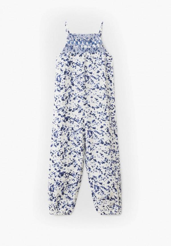 комбинезон с брюками mango kids для девочки, синий