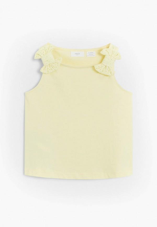 топ mango kids для девочки, желтый