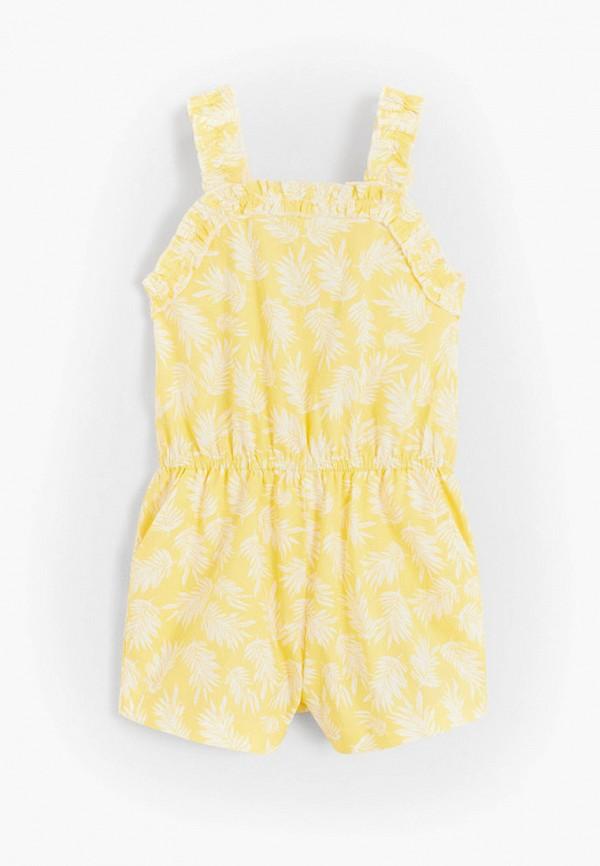 комбинезон с брюками mango kids для девочки, желтый