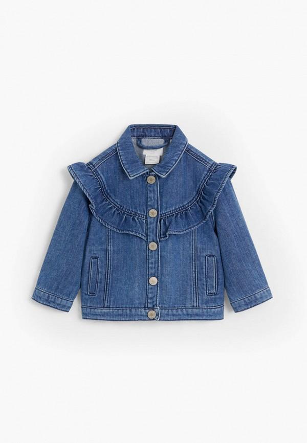 куртка mango kids для девочки, синяя