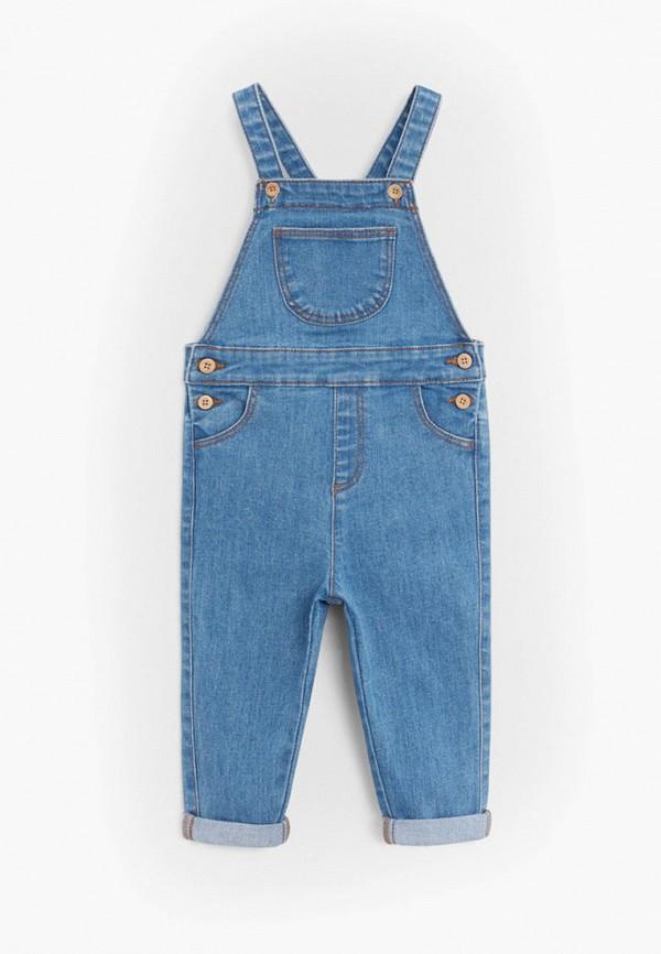 джинсовые комбинезон mango kids для девочки, голубой