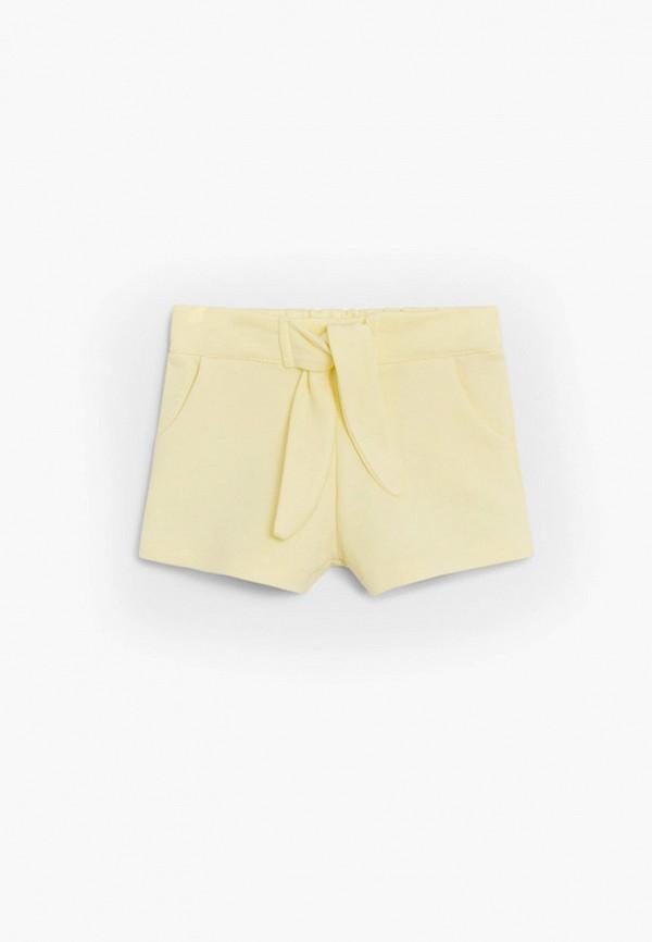 шорты mango kids для девочки, желтые