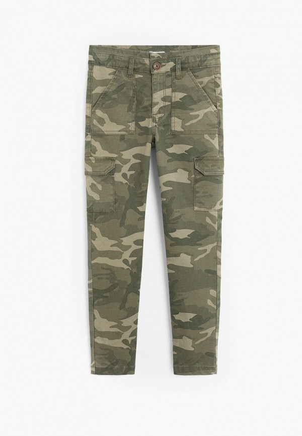 брюки mango kids для девочки, хаки