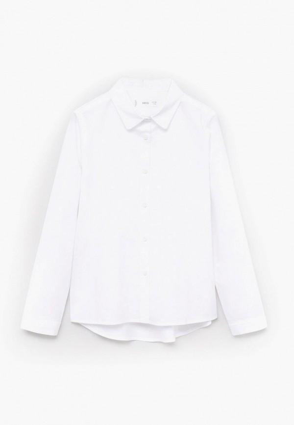 рубашка mango kids для девочки, белая