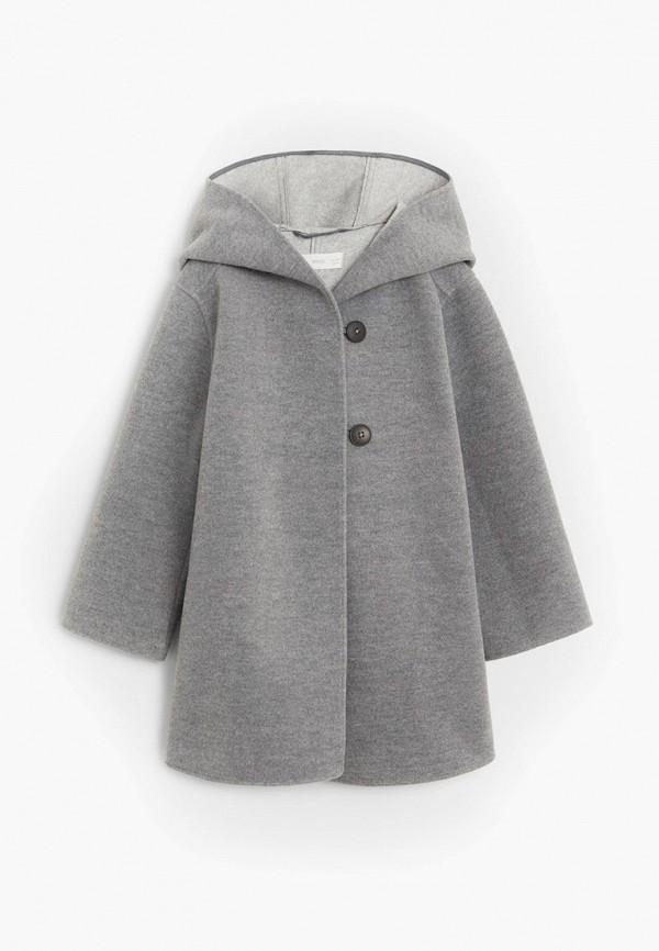 пальто mango kids для девочки, серое