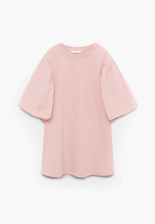 повседневные платье mango kids для девочки, розовое