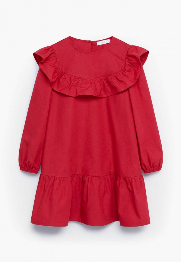 повседневные платье mango kids для девочки, красное