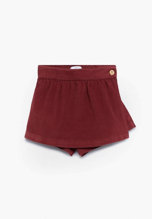 юбка mango kids для девочки, бордовая