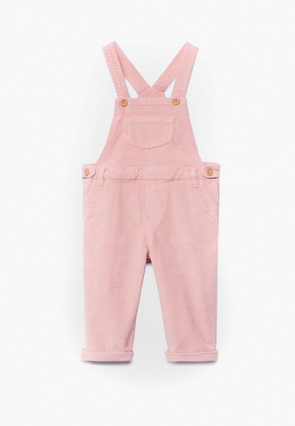 комбинезон mango kids для девочки, розовый