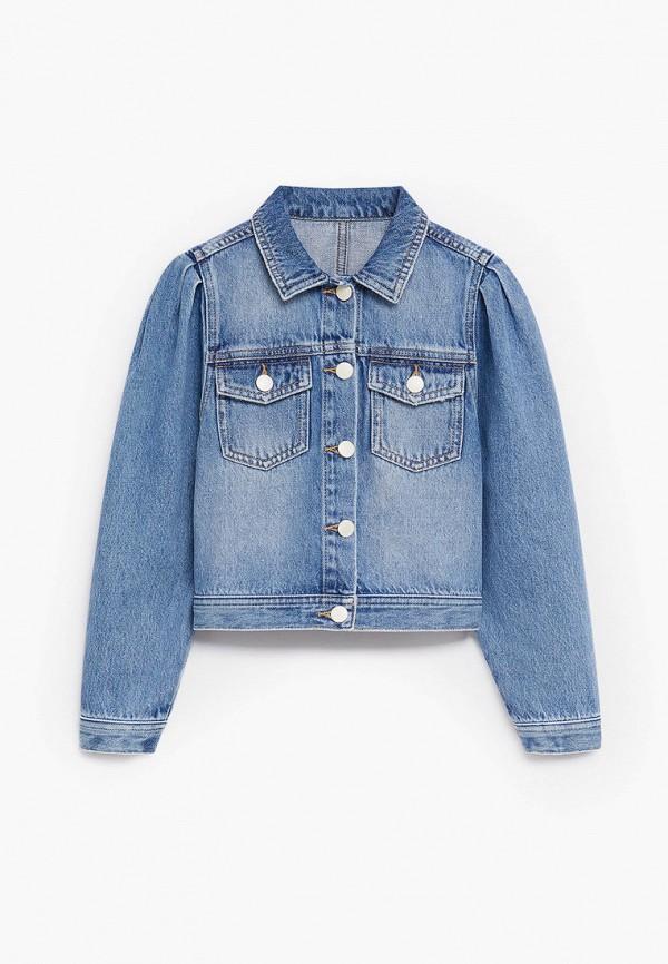 джинсовые куртка mango kids для девочки, синяя