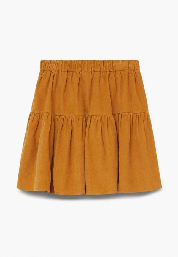 юбка mango kids для девочки, желтая