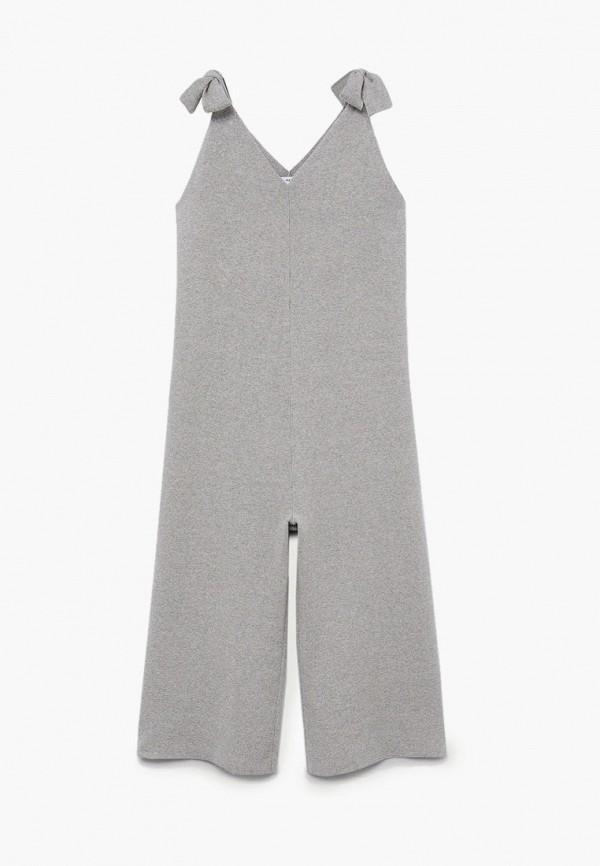 комбинезон с брюками mango kids для девочки, серый