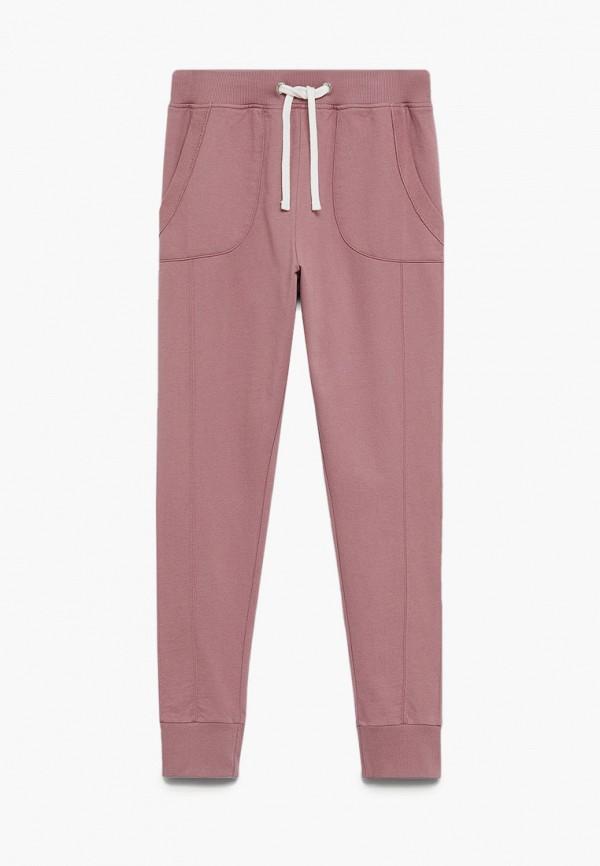 спортивные брюки mango kids для девочки, розовые