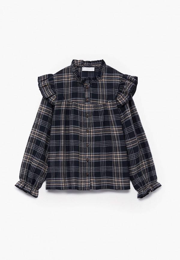 рубашка mango kids для девочки, черная