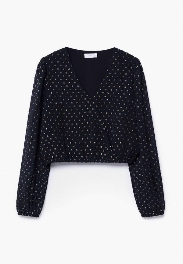 блузка mango kids для девочки, черная