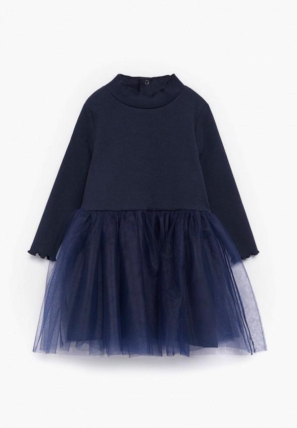 повседневные платье mango kids для девочки, синее