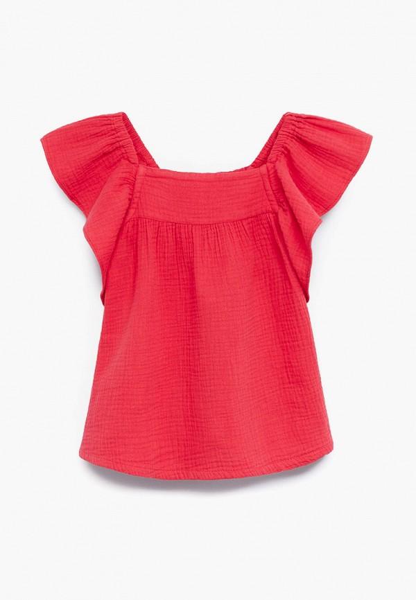 блузка mango kids для девочки, красная