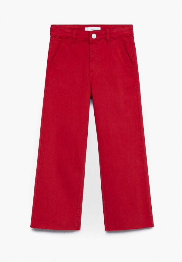 брюки mango kids для девочки, красные
