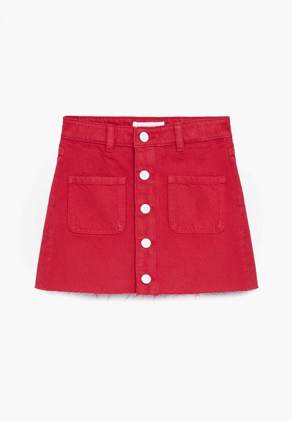 юбка mango kids для девочки, красная