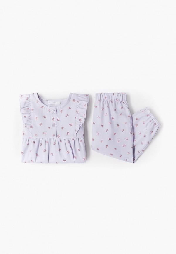 Пижама Mango Kids Mango Kids 87021021 фиолетовый фото