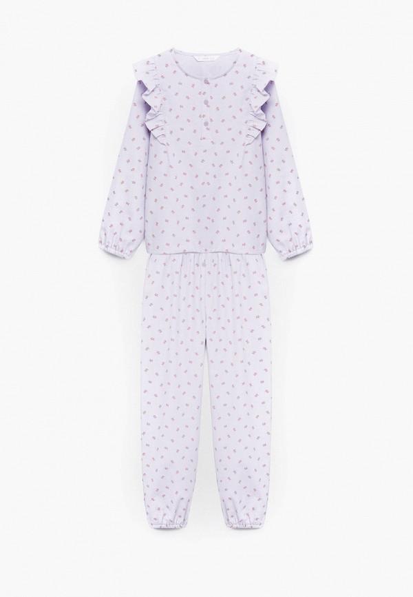 пижама mango kids для девочки, фиолетовая