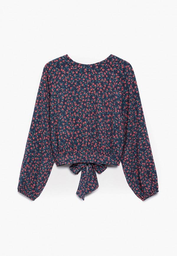 блузка mango kids для девочки, синяя