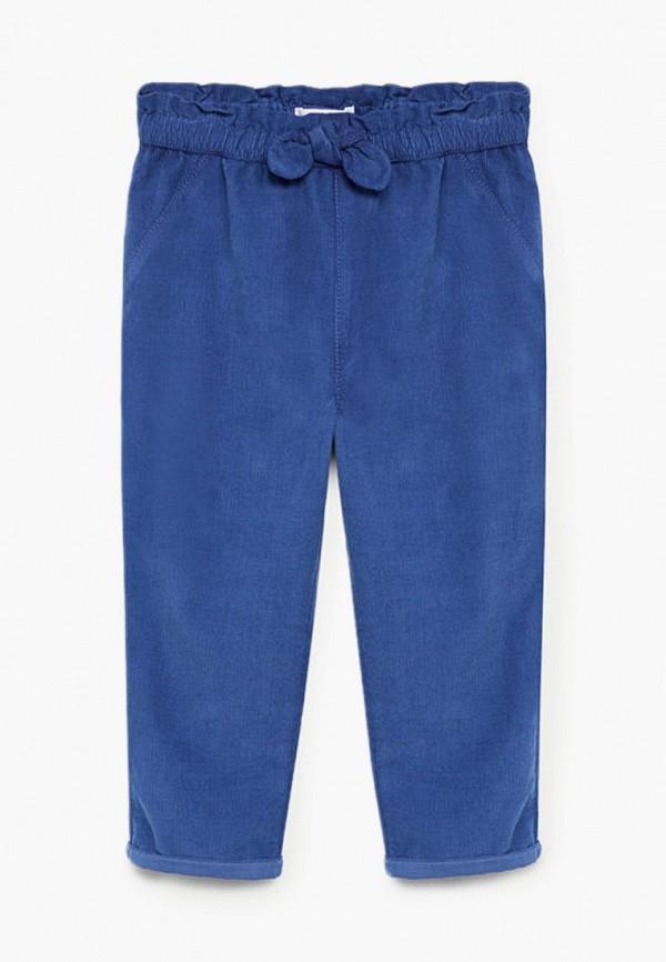 брюки mango kids для девочки, синие