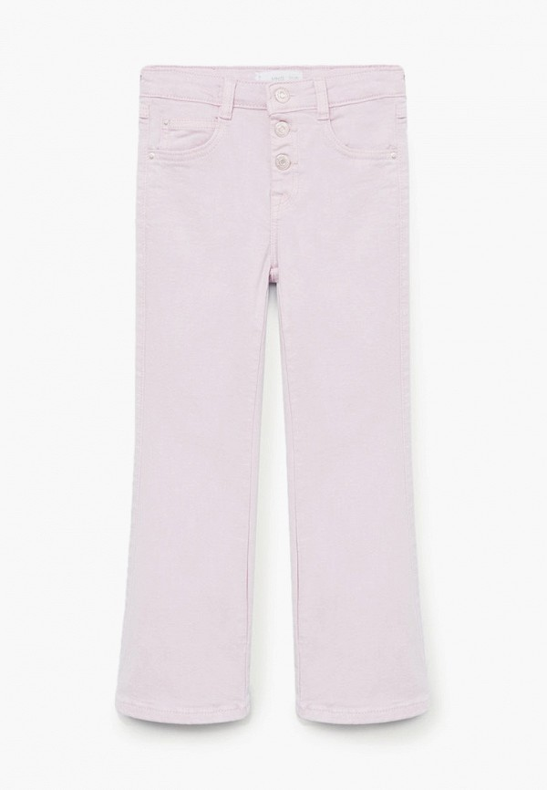 джинсы mango kids для девочки, фиолетовые