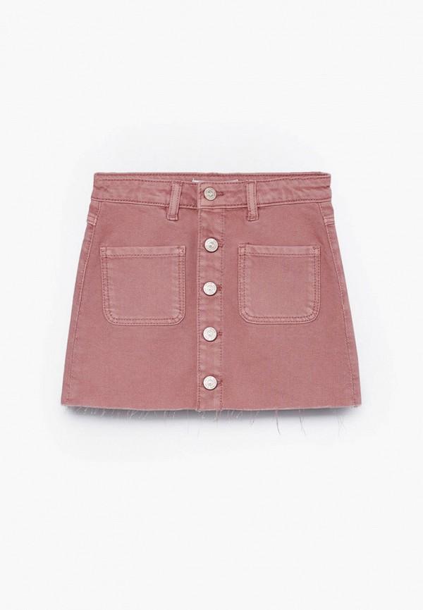 юбка mango kids для девочки, розовая