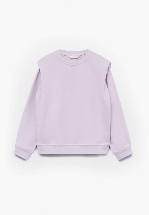 свитшот mango kids для девочки, фиолетовый