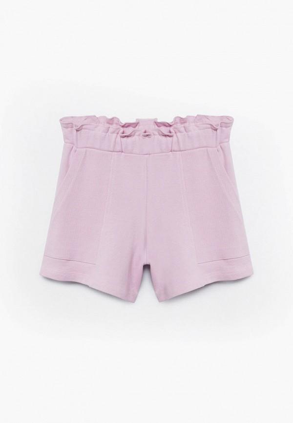 шорты mango kids для девочки, фиолетовые