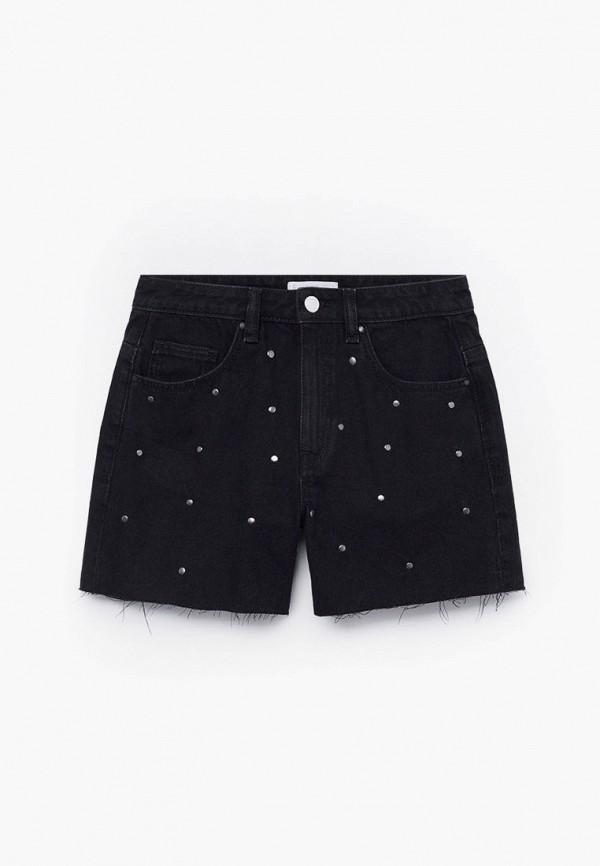 шорты mango kids для девочки, черные